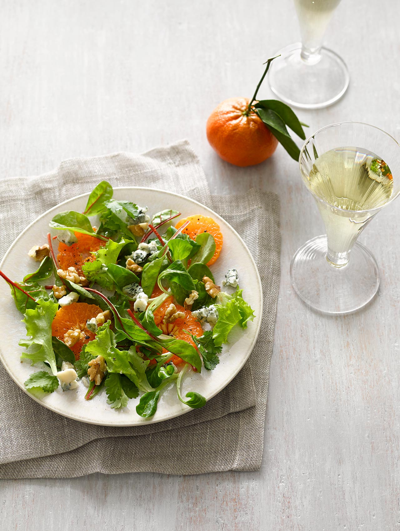 Orange Mixed Green Salad
